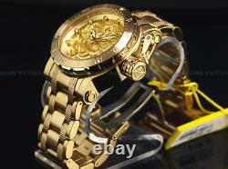 Invicta Men 52mm Coalition Forces Triple Gold 18K Plated Dragon Automatic Watch