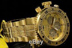 Invicta Men 52mm Pro Diver COMBAT SEAL 18 KGold Plated ChronoGold Dial S. S Watch