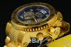 Invicta Men 52mm Pro Diver COMBAT SEAL 18 KGold Plated Chrono BlueDial S. S Watch