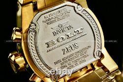 Invicta Men 52mm RESERVE BOLT ZEUS MAGNUM Blue Dial 18 K Gold Plated S. S Watch
