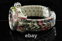 Invicta Men 54mm Reserve Venom Aqua Plated Hydro Plated Swiss Multicolor Watch