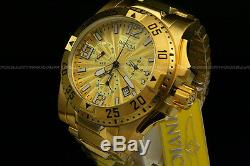 Invicta Men Excursion 50MM Swiss Movt 18K Gold Plated Chrono S. S Bracelet Watch