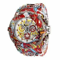 Invicta Men Reserve 52mm Grand Bolt Zeus Graffiti Swiss Aqua Hydro Plated Watch