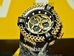 Invicta Men Reserve Bolt Hercules Swiss Gold Plated Combat Black Chrono SS Watch