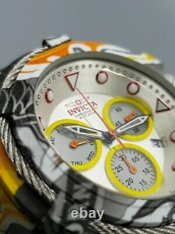 Invicta Men Swiss 53mm Bolt Aqua/Hydro Plated GRAFFITI Themed Chronograph Watch