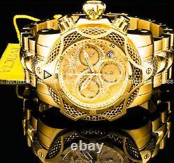 Invicta Men Venom Gen III Swiss Chronograph 18Kt Gold Plated Bracelet 52mm Watch