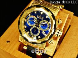 Invicta Men's 46mm CAPSULE Swiss Chronograph Blue Dial 18K Gold Plated SS Watch