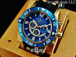 Invicta Men's 50mm Pro Diver Gen III Chronograph Blue Dial 18K Gold Plated Watch