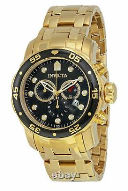 Invicta Men's Pro Diver 0072 Gold Stainless-Steel Plated Swiss Parts Chronogr