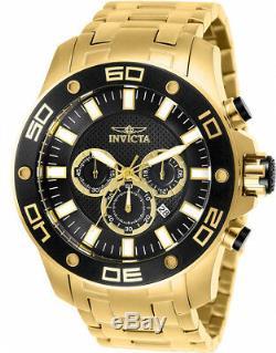Invicta Men's Pro Diver Quartz Chronograph 100m Gold-Plated S. Steel Watch 26076