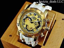 Invicta Men's Pro Diver Scuba Skeletonized Gold Dial 18K Gold Plated SS Watch