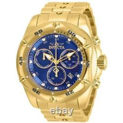 Invicta Men's Watch Pro Diver Chrono Blue Dial Yellow Gold Plated Bracelet 31608