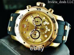 Invicta Mens 48mm Pro Diver Scuba Chronograph 18K Gold & Rose Plated 2Tone Watch