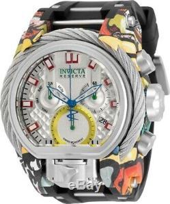 Invicta Mens Reserve 52mm Bolt Zeus Magnum Aqua-Plating Graffiti Strap Watch