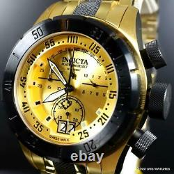 Invicta Platinum Select Coalition Forces Swiss Made Gold Plated Watch 50mm New