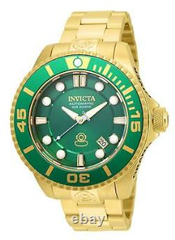 Invicta Pro Diver Automatic Green Dial Gold-plated Men's Analog Watch 19805