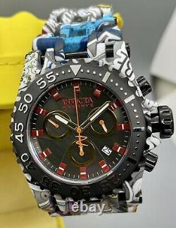 Invicta Reserve 50mm Men MOP GRAFFITI Swiss Chrono Hydro Aqua Plated SS Watch