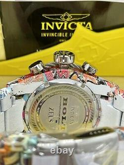 Invicta Reserve 52mm Grand Bolt Zeus Hydro Plated Graffiti Chrono Swiss Watch
