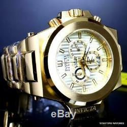 Invicta Reserve Akula 58mm Gold Plated Steel Swiss Mvt Chronograph Watch New