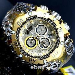 Invicta Reserve Gladiator 1.17CTW Diamond Gold Plated Steel Swiss 61mm Watch New