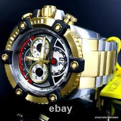 Invicta Reserve Grand Octane 63mm Two Tone Gold Plated Steel Swiss Mvt Watch New