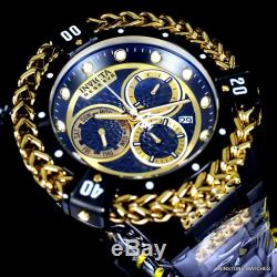 Invicta Reserve Hercules Bolt Swiss Mvt Black Steel Gold Plated Watch 52mm New