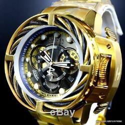 Invicta Reserve I-Force Hybrid Gold Plated Steel Chronograph Swiss Mvt 52mm New