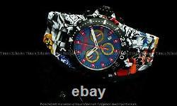 Invicta Reserve Men 50mm CHAOS GRAFFITI Swiss Chrono Hydro Aqua Plated SS Watch