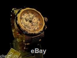 Invicta Reserve Men's Capsule Swiss Made Chrono18K Gold Plated SS Bracelet Watch