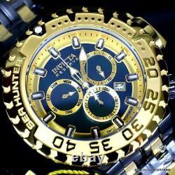 Invicta Reserve Sea Hunter Gen III Gold Plated Black Steel Swiss 58mm Watch New