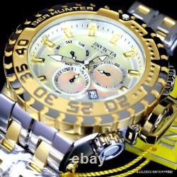 Invicta Reserve Sea Hunter Gen III Swiss 2 Tone Gold Plated Steel 58mm Watch New
