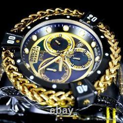 Invicta Reserve Shaq Hercules Black MOP Steel Gold Plated Swiss Watch 56mm New