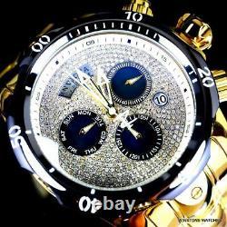Invicta Reserve Venom 1.7 CTW Diamond Swiss Mvt High Polish Gold Plate Watch New