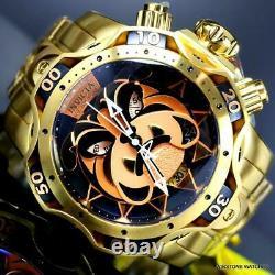 Invicta Reserve Venom Gen III Bulldog Swiss Mvt Gold Plated Steel Watch 52mm New