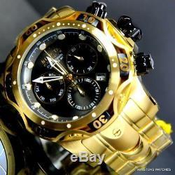 Invicta Reserve Venom Gen III Swiss Mvt Black 52mm Gold Plated Steel Watch New