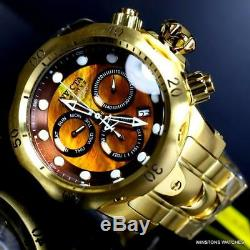 Invicta Reserve Venom Gold Plated Steel Brown MOP Swiss Mvt Chrono 53mm Watch