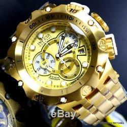Invicta Reserve Venom Hybrid 52mm Gold Plated Steel Swiss Mvt Chrono Watch New