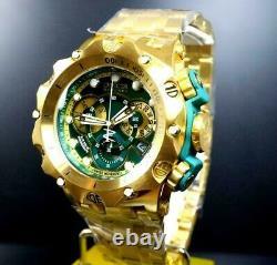 Invicta Reserve Venom Hybrid 52mm Gold Plated Steel Swiss Mvt Green Watch