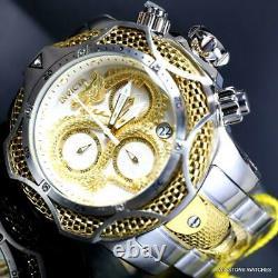 Invicta Reserve Venom III Dragon Scale Swiss Mv White Gold Plated 52mm Watch New