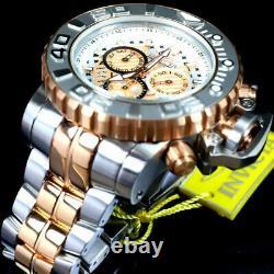 Invicta Sea Hunter Gen II 2 Tone Rose Gold Plated 70mm Swiss Mvt Steel Watch New