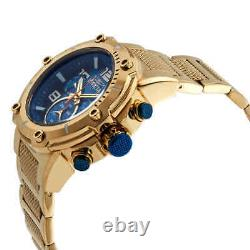 Invicta Speedway Chronograph Blue Dial Gold Ion-plated Men's Watch 19532