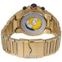 Invicta Speedway Chronograph Champagne Dial Gold Ion-plated Men's Watch 19529