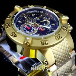 Invicta Subaqua Noma III Swiss Made Chronograph Gold Plated Brown 50mm Watch New