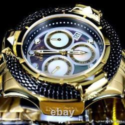 Invicta Subaqua Poseidon Bolt Hybrid Black MOP Gold Plated Swiss 55mm Watch New