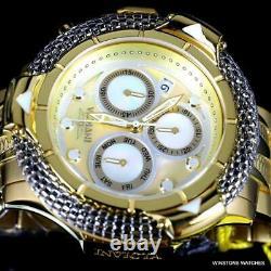 Invicta Subaqua Poseidon Bolt Hybrid MOP Gold Plated Swiss Mvt 56mm Watch New