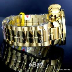 Invicta Subaqua Sea Dragon Aztec Wooden Inlay Gold Plated Steel 52mm Chrono New