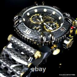 Invicta Subaqua Talon Chronograph Black Steel Gold Plated 52mm Swiss Watch New