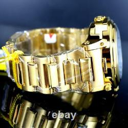 Invicta Transatlantic Reversible Dual Dials Gold Plated Abalone MOP Watch New