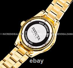 Invicta Women Pro Diver Quartz Crystal Accented 18Kt GOLD Plated MOP 38mm Watch