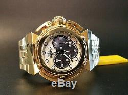 Invicta X-wing Quartz Chronograph 18k Gold Plated Watch White & Black MOP Dial